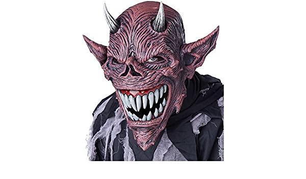 California Costumes Devil Feast Ani-Motion Mask Horror Halloween 60637