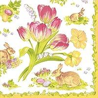 Caspari Easter Bouquet Lunch Napkin, Multi-Colour