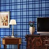 WJLG Papier Peint,Papier Peint à Carreaux de Style écossais, décoration Murale de Fond de Salle à Manger Salon Cuisine TV, Tissu Non tissé 53cmX1000cm
