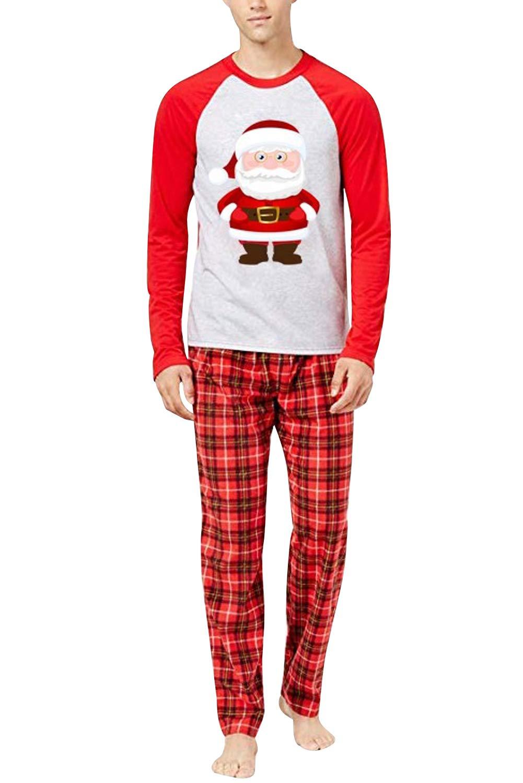 URMOSTIN Pijamas de Navidad Dos Piezas Pijamas Familiares, Conjunto de Ropa de Dormir de Algodón Merry Christmas Manga… 4