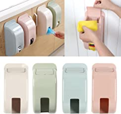 CONNECTWIDE Dispenser Recycle Bag Storage Box Wall Mount Holder Recycle Bin Grocery Bag Dispenser, Wall Mount Container Holder Garbage Bag Dispenser Recycle Bag Storage Box Plastic Kitchen Grocery Bins Organizer Housekeeping, 1pcs Color: Beige