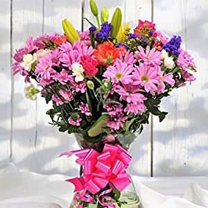 Best Value Fresh Flowers Delivered - Stunning Mixed Flower Bouquet - FREE Next Day Delivery in a 1hr TimeSlot 7 Days a Week - Beautiful Birthday Present or Thank You Gift - Send a Florist Arranged Bouquet Anywhere in the UK