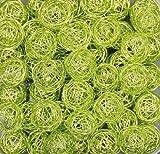 Drahtbälle, Drahtkugeln. Ca 30 mm. 10 Stück. Hell grün, APFELGRÜN