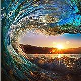 Wapel 3D Fototapete Surf Wellen Im Meer Meerblick Schlafzimmer Wohnzimmer Tv Hintergrund Wave Großes Wandbild Tapeten Wandbild 200Cmx 140Cm
