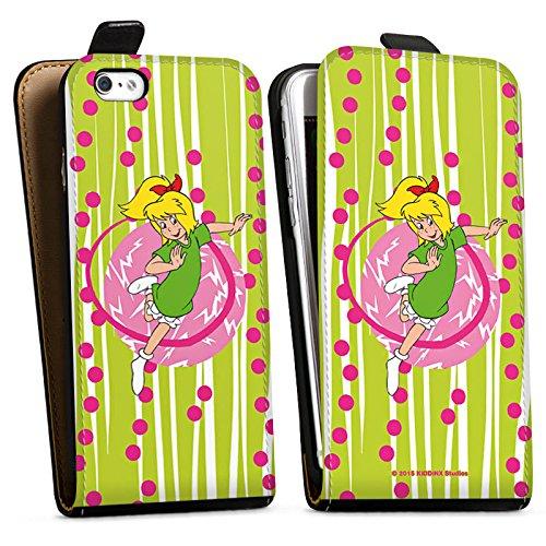 Apple iPhone X Silikon Hülle Case Schutzhülle Bibi Blocksberg Fanartikel Merchandise Hexenspaß Downflip Tasche schwarz