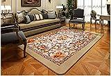flashing- European minimalistisch moderne Wohnzimmer Couchtisch rechteckig maschinenwaschbar Stoff Sofa Schlafzimmerteppich Rosen(2000mm*2400mm )