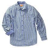 RENNER XXL Maddox Herren Trachten Hemd Übergrößen, Blau, 4XL