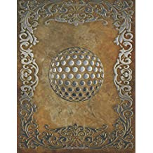 Monogram Golf Sketchbook: Blank Art Pad Notebook Journal: Volume 57 (Monogram Rustic 150 Sketch)