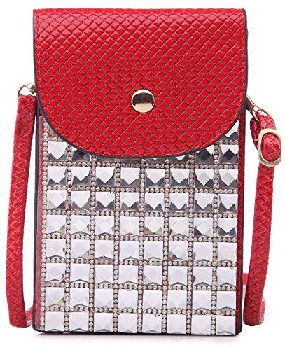 Big Handbag Shop - Borsa a tracolla bambina (rosso)