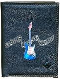 Schutzhülle/Kleine Geldbörse für Herren/Portemonnaie für Karten, Papiere, Motiv: Gitarre