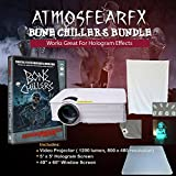 CSL Amosfearfx Bone Chillers Video Projector Bundle. includes Projector, Dvd, window and Hologram Screen.