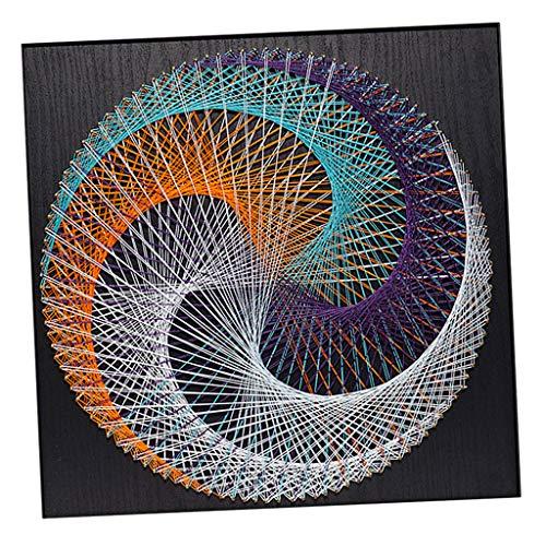 perfk String Art Kit Starter String Kunst Kit Fadenkunst Schnurkunst für Kinder und Erwachsene - Geometry Figur