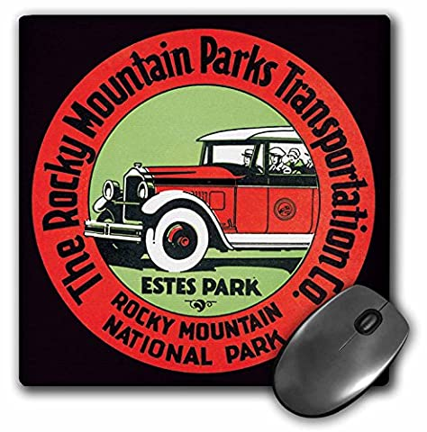 BLN Vintage Travel Posters and Luggage Tags - Rocky Mountains Parks Transportation Co. Luggage Label - MousePad (mp_180228_1)