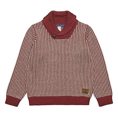 ESPRIT Jungen Pullover RK18064, Rot (Brick 382), 128 (Herstellergröße: 128)