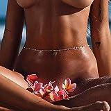 Mayelia Boho Gioielli a catena per il corpo Chianne sexy in argento con perline a catena a forma di ventre bikini da spiaggia
