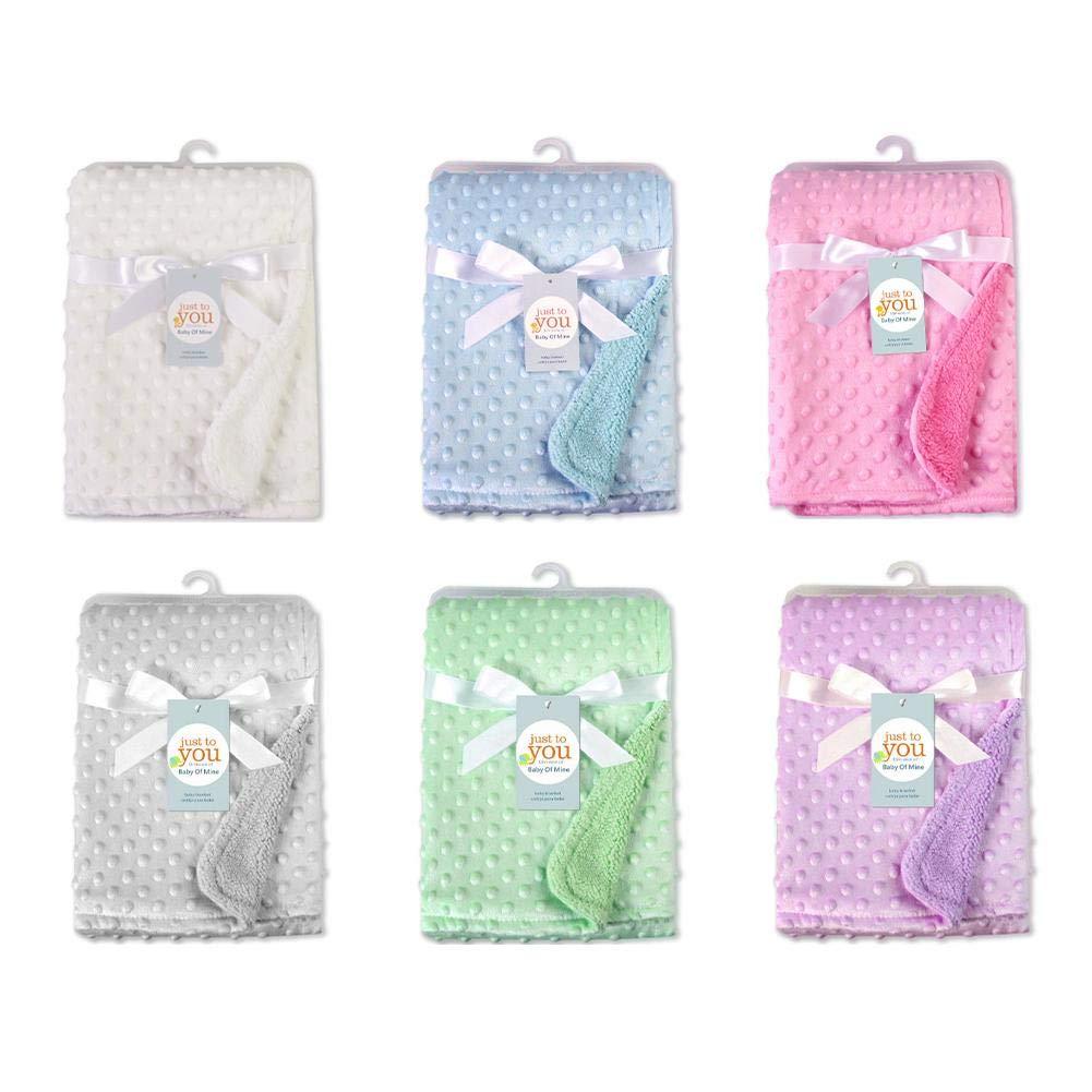 Manta del bebé, suave y caliente manta de burbuja manta de doble capa, terciopelo corto en la parte delantera, sin pelusa, buena calidad suave y durable