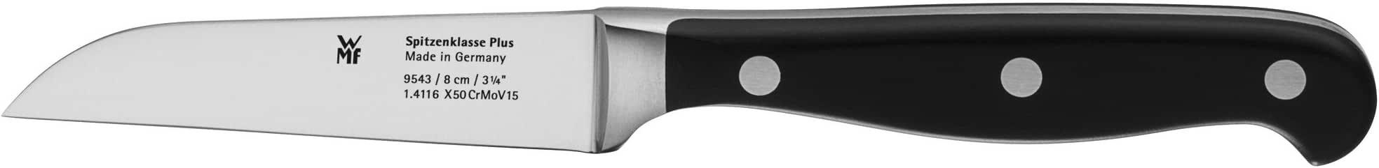 WMF Spitzenklasse Plus Gemüsemesser 18 cm Spezialklingenstahl, Messer geschmiedet, Performance Cut, Kunststoff-Griff vernietet, Klinge 8 cm