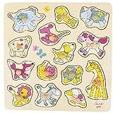 Goki 57508 - Steckpuzzle - - Meine Freunde - Susibelle Kollektion