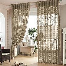 cortinas salon modernas cortinas ventana hoja hueco cortina de bordado para dormitorio ventana