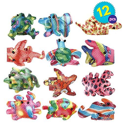 THE TWIDDLERS 12 Pulseras ( Snap on Bracelet ) en 12 diseños Distintos y selección de Colores Rellenos de Bolsas de piñatas, Detalles de Fiesta o premios de Clase
