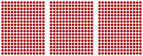 WP Klebepunkte - Círculos adhesivos (714 unidades, 10mm, PVC, impermeables), color rojo