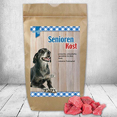 Preisvergleich Produktbild Senior Spezial Trockenfutter 3 kg speziell für ältere Hunde kann in Wasser eingeweicht werden für Senioren mit Zahnproblemen schmackhaften nur die besten Zutaten niedriger Proteingehalt