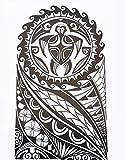 MÄNNER TRIBAL TATTOO SCHWARZ HB857 Oberarm Tattoo Aufkleber Maori und Tribal Motiv