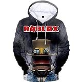 Roblox Pullover Sudadera con Capucha Sudadera con Capucha for niños Tops Casuales Camisetas de Manga Larga con Estampado for