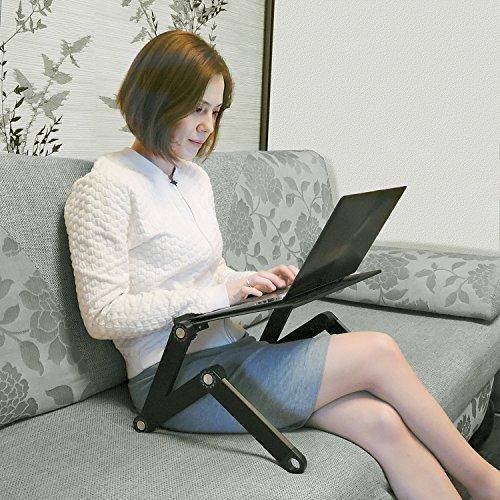 Wonder Worker Newton Ergonomisch Laptoptisch Verstellbarer Laptop Notebook Stnder Leichte Aluminium Schwarz Notebookstnder
