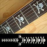 Griffbrett Marker Inlay Aufkleber Decals für Gitarre & Bass-Totenkopf-WP