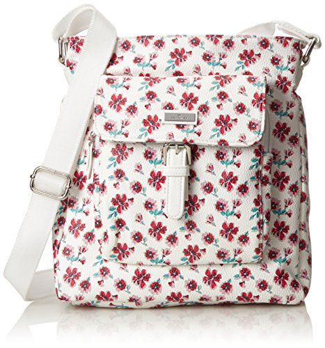 new release cost charm finest selection Tom Tailor Acc Rinapu Flower Mujer Bolsos bandolera Blanco (Weiss)  7x27.5x25 cm (B x H x T)