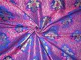 TheFabricFactory Schwere Brokat Stoff Royal Blau, Pink x