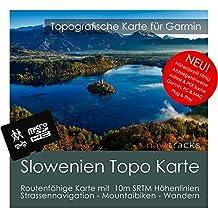 Eslovenia Garmin tarjeta Topo 4GB MicroSD. Mapa Topográfico de GPS Tiempo Libre para Bicicleta Senderismo Excursiones Senderismo Geocaching & Outdoor. Dispositivos de Navegación, PC & Mac