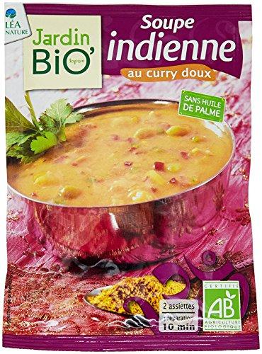 Jardin Bio Soupe Indienne au Curry Doux 40 g - Lot de 6