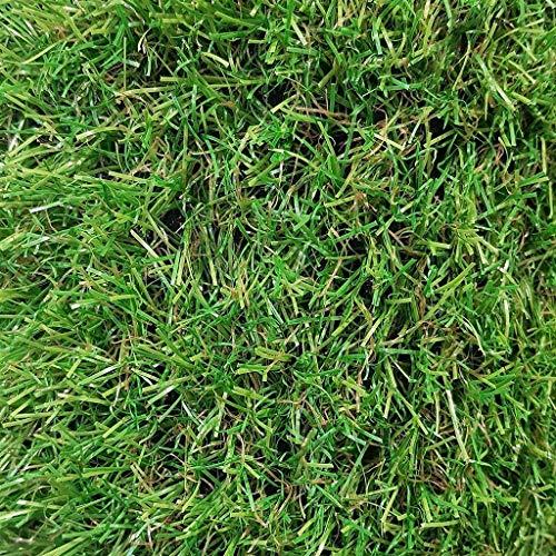 Al aire libre Césped artificial de primera calidad Perfecto for paisajes interiores y exteriores Alfombra gruesa de hierba falsa Hierba falsa realista Deluxe Green (Color : 35mm, Size : 1mX2m)