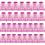 SIQUK 30 Packs Unicorn Drawstring Backpacks Unicorn Drawstring Party Bags Gift Bags Party Supplies Favors Bags for Unicorn Themed Party