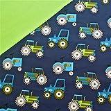 0,5x1,4m Jersey Trecker dunkelblau Traktoren & 0,5x0,7m
