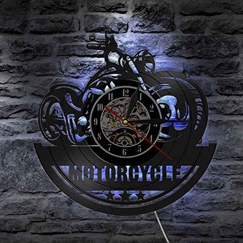 GVC Ventilador de Motocicleta Reloj de Pared de Vinilo Antiguo Reloj Taller de reparación de Garaje...