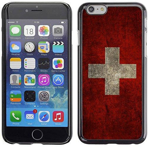 Graphic4You Vintage Uralt Flagge Von Kroatien Kroatisch Design Harte Hülle Case Tasche Schutzhülle für Apple iPhone 6 Plus / 6S Plus Schweiz Schweizer