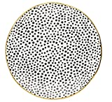 GreenGate Speiseteller Teller groß DOT Punkte Black/Gold Porzellan