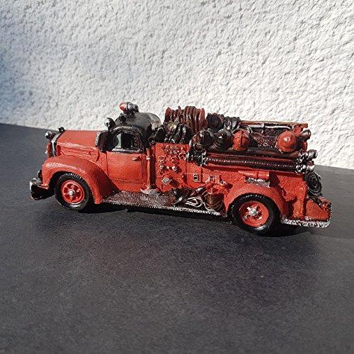 Vintage US Oldtimer Feuerwehr Wagen Antik Deko Modell USA Fire Truck Retro Nostalgie Vintage Shabby Style (Feuerwehrmann Sam-usa)