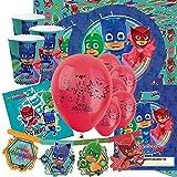 Party Bags 2 Go PJ Masques DE Luxe Fournitures de fêtes soirée Kit pour 16