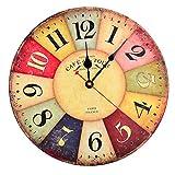 OviTop Wanduhr Vintage Uhr 30cm Dekorative Wanduhr Lautlos Ruhige Wanduhr ohne Tickgeräusche für Küche Büro Wohn- und Schlafzimmer