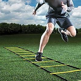 GHB 6M Scala Agilità Scaletta per Allenamento Calcio Esercizio Velocità Fitness 12 Piolo con Custodia Portatile…