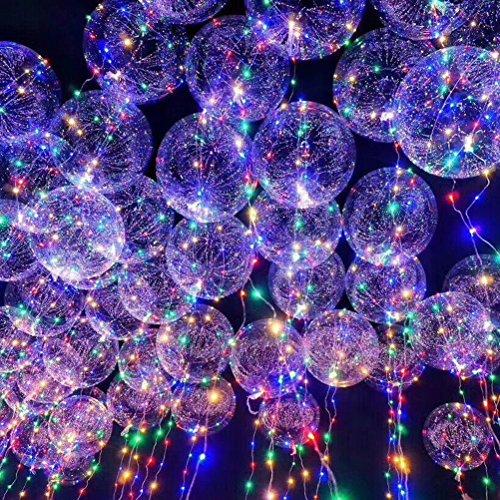 ledmomo Luftballons Party-18Zoll Transparent Blinker Licht-Ballon Farbe gemischt -