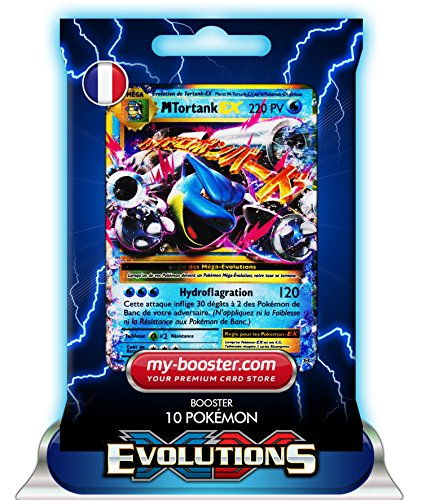 MEGA TORTANK EX 22/108 220PV XY12 EVOLUTIONS - Booster de 10 cartes Pokemon francaises my-booster