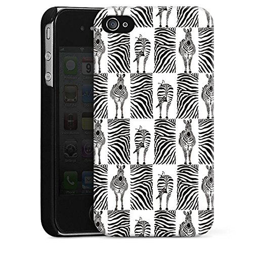 DeinDesign Hülle kompatibel mit Apple iPhone 4 Handyhülle Case Zebra Animal Print Pattern