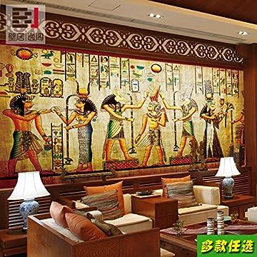Aolomp Wallpaper Custom Retro Grandes Murales Personas Faraón De Egipto Wallpaper Ktv Bar Cafetería Pirámide Papel Tapiz Personalizado 4