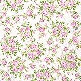 20 Servietten Little Roses - Kleine Rosen / Blumenmuster 33x33cm