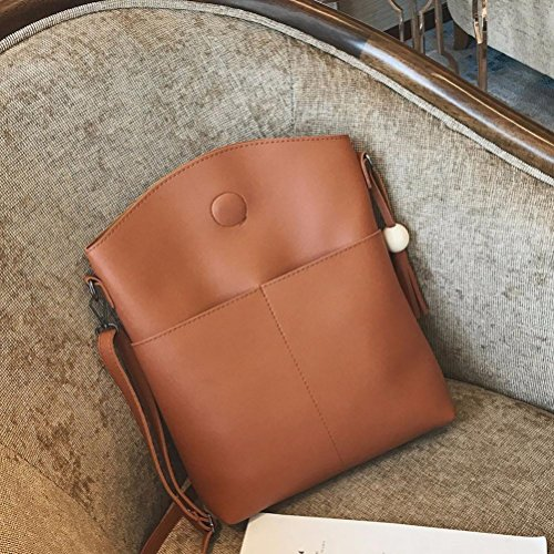 525b073cf78e2 ... Hunpta Frauen Tasche Drei Sets Großer Kapazitäts Schultertasche  Messenger Mobile Handtaschen Gelb